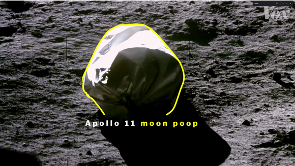 Apollo 11 moon poop